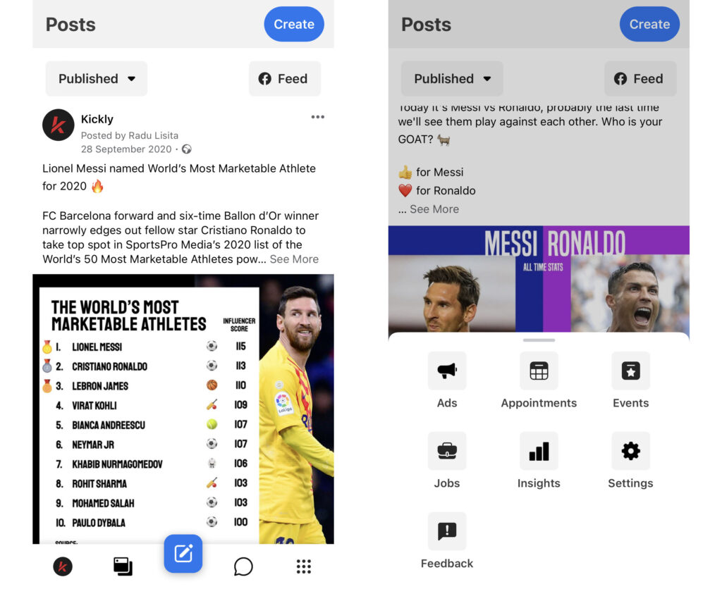 Facebook Business Suiteis an incredible app to stay on top of things for your sports organization's social media marketing