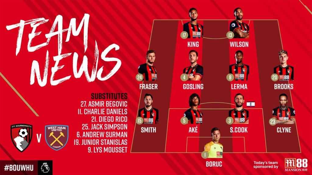 AFC Bournemouth have done an excellent job with their team lineups as well